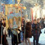 In attesa di iniziare la Processione - foto di Luigi Albarelli - Tremenico, 5 febbraio 2019