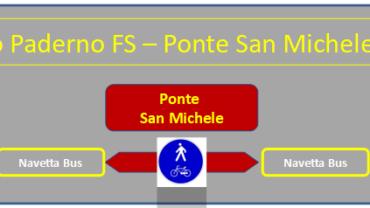 Illustrazione collegamento Paderno FS-Ponte San Michele-Calusco FS