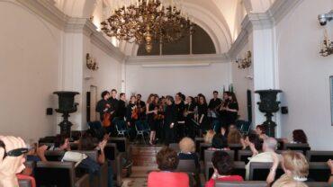 concerto nella sala Fermi eseguito dall'Ensemble dell'Associazione Stoppani in Musica