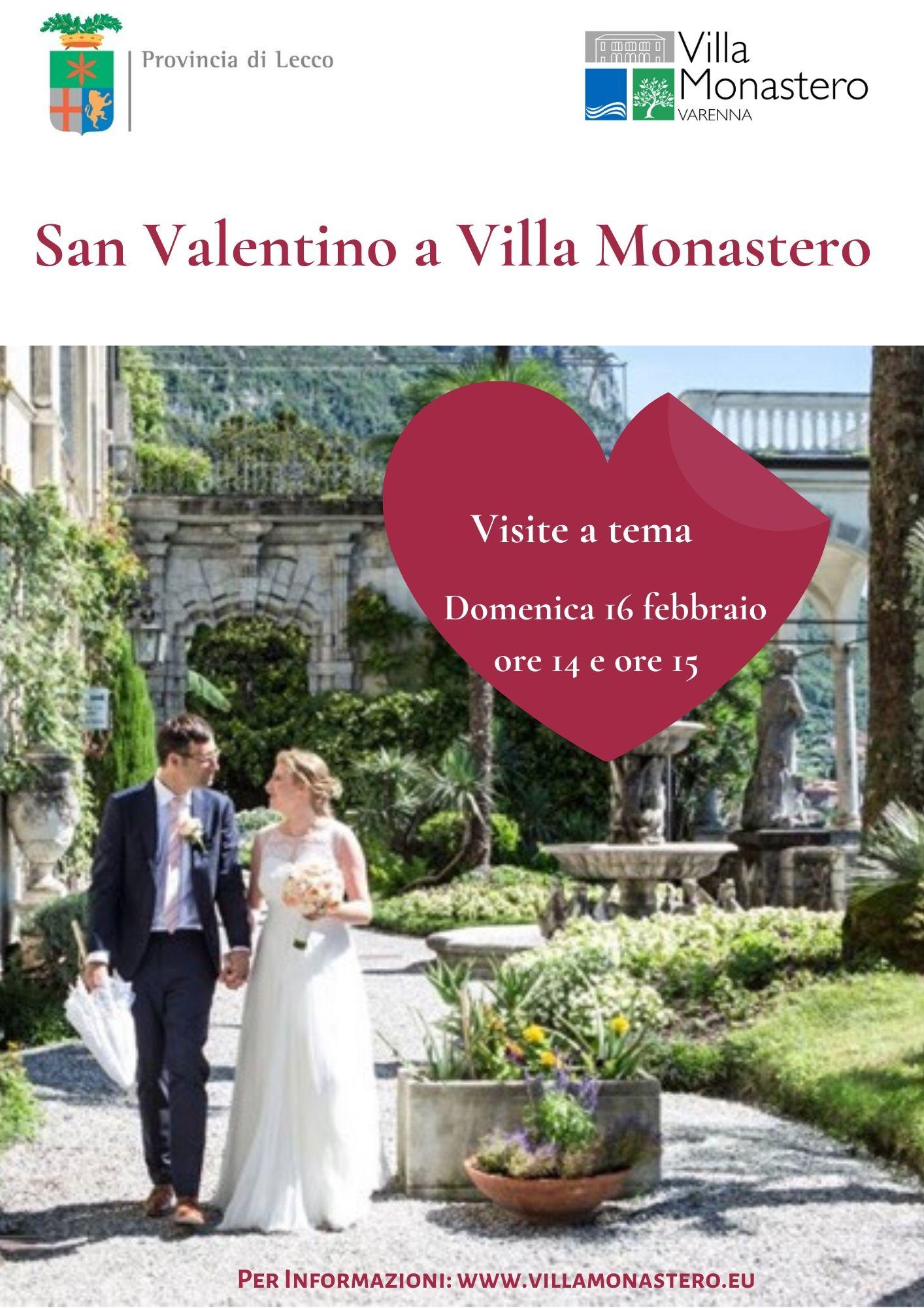 locandina san valentino a Villa Monastero