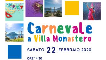 Locandina carnevale a Villa Monastero