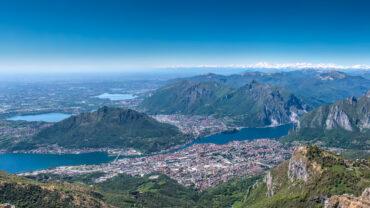 Lecco vista dalle montagne