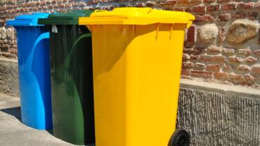 bidone contenitore per rifiuti
