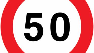 cartello limite 50 km/h